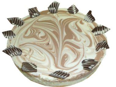Tmavý tvarohový dort
