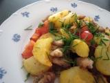 Opekané kuřecí maso s bramborami recept