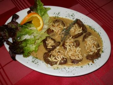 Srnčí steak v mandlových hoblinkách