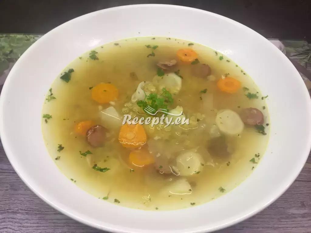 Hrstková polévka recept  polévky