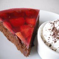 Kakaový koláč s jahodami recept