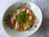 Kuřecí polévka s celerem a těstovinami recept