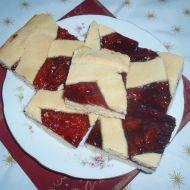 Snadný křehký mřížkový koláč recept