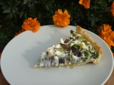 Slaný koláč s mangoldem a václavkami recept