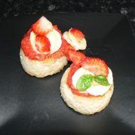 Jáhlový nákyp s jahodami recept
