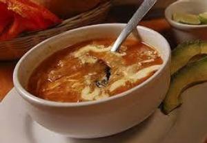 Mexická polévka Sopa Tarasca