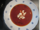 Rajčatová polévka se sýrem recept