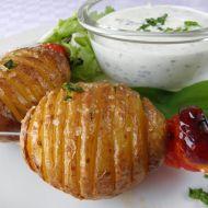 Pečené brambory s česnekovým dresinkem recept