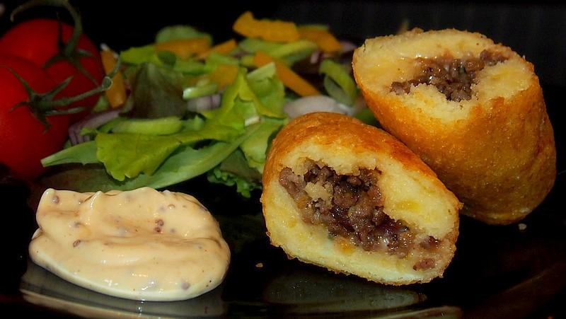 Plněné bramborové krokety recept