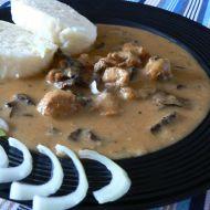 Sójové maso na houbách recept
