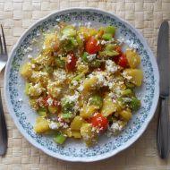 Brambory se zeleninou na pánvi recept