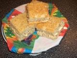 Ořechové řezy s pudinkovým krémem recept