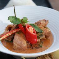 Červené curry s kachnou recept