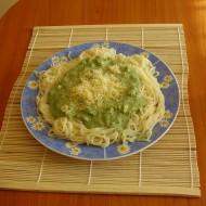 Špenátové špagety recept