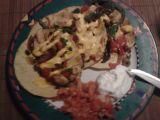 Mexické kuřecí maso s kukuřičnými plackami recept