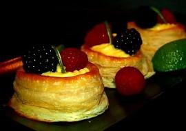 Plněné listové koláčky vanilkovým krémem recept