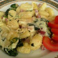 Gnocchi s uzeným, špenátem a smetanou recept