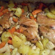 Králičí stehna na zelenině recept