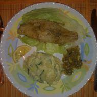 Treska s česnekem a cibulí recept