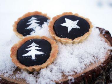 Vánoční čokoládovo  karamelové košíčky