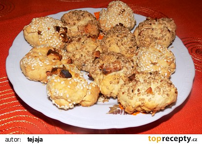 Jablkovo-sezamové sušenky recept