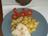 Udušený pangas se zeleninovými bramborami recept