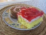 Jahodové řezy s želatinou recept