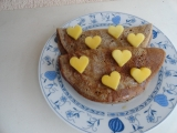 Valentýnské palačinky s jablečnou vlákninou recept