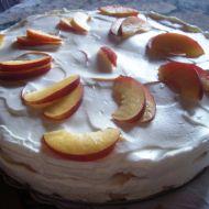 Piškotový dort s nektarinkami recept