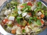 Kuskus se zeleninou a kozím sýrem recept