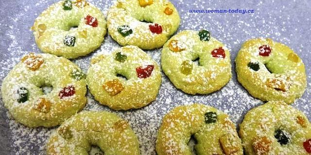Pistáciové vánoční strojkové cukroví recept