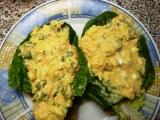 Vaječná pomazánka s římským salátem, mrkví a okurkou recept ...