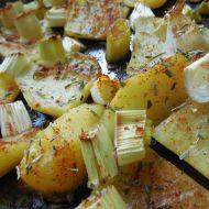 Pečené brambory s jarní cibulkou recept