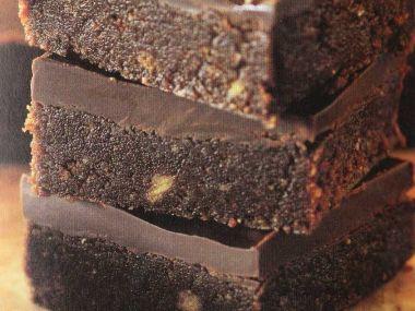 Nepečené čokoládové řezy