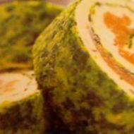 Špenátová roláda s lososem recept