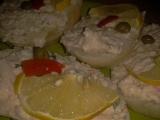 Opravdu výtečná pomazánka z krabích tyčinek, slaniny, sýra a ...