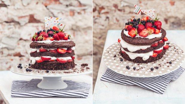 lehký dort k narozeninám Lehký letní kokosovo jahodový dort s tvarohovým krémem | Prima Fresh lehký dort k narozeninám