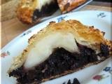 Čokoládovo-hruškový křehký koláč recept