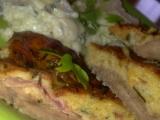 Telecí plátky,potřené pikantním těstíčkem ze sýrů, zeleniny, bylinek ...