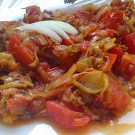 Veganská dušená rajčata s pórkem recept