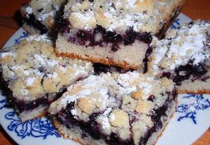 Borůvkový koláč II.  jednoduchý a výborný