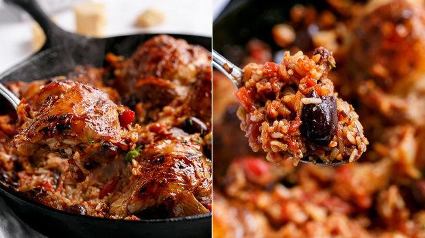 Italské kuře s rýží z jedné pánve