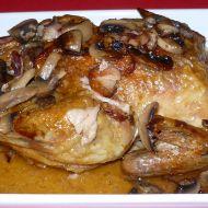 Kuře nadívané žampiony recept