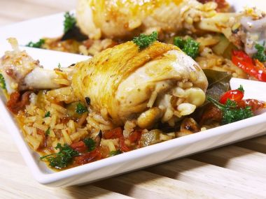 Kuře s rýží po bulharsku