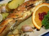 Makrela s nivou na pomerančích recept