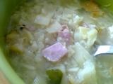 Květáková polévka s uzeným masem a flíčkama recept ...