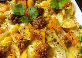 Pečené brambory s dýni, masovými kuličkami a mozzarellou recept ...
