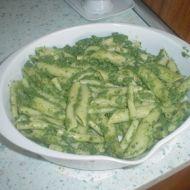 Špenátové těstoviny recept