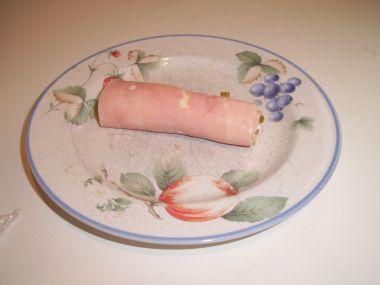 Šunkové závitky se sýrovým krémem