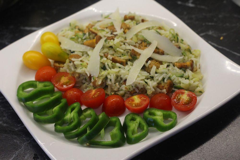 Rýže s cuketou a liškami recept